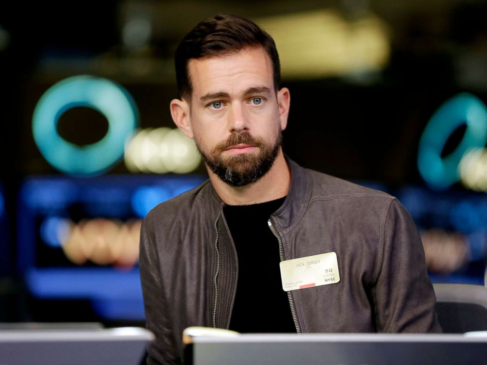 PHOTO: This Nov. 19, 2015, file photo shows Twitter CEO Jack Dorsey being interviewed on the floor of the New York Stock Exchange.