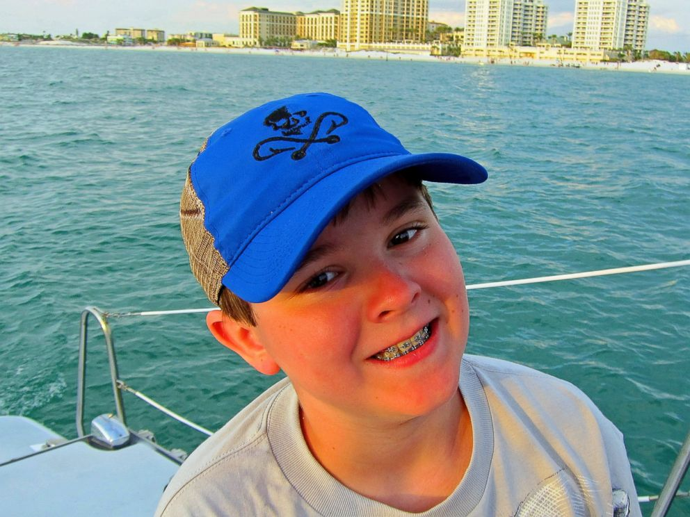 This photo provided by Richard Taras shows Jacobe Taras during a family spring break vacation in Florida several days before he committed suicide over school bullying back home in Moreau, N.Y.