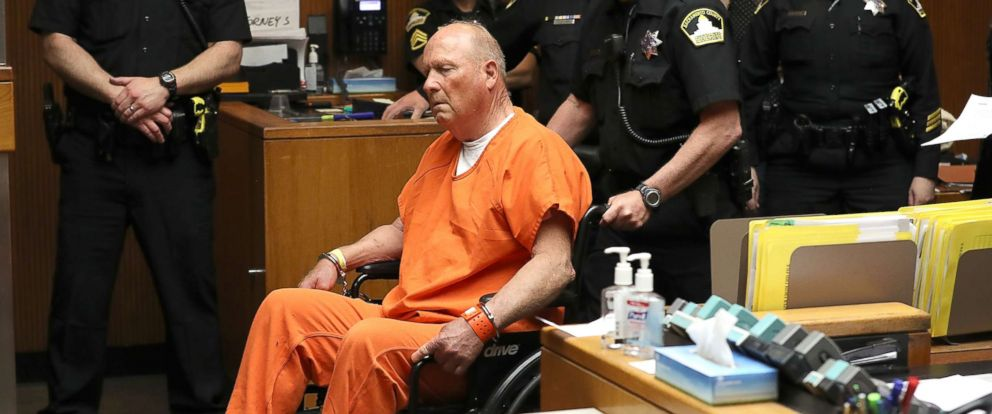 """PHOTO: Joseph James DeAngelo, the suspected """"Golden State Killer"""", appears in court for his arraignment on April 27, 2018 in Sacramento, Calif."""