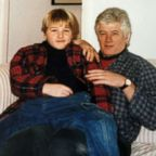 ABC News' James Longman, as a child, with his father, who ended his life when James was 9 years old.