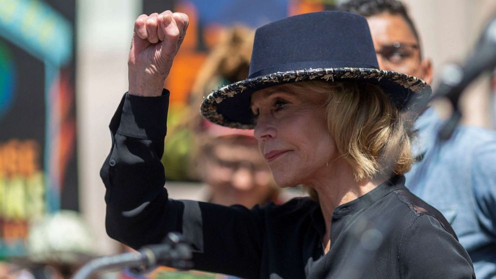 Jane Fonda arrested in climate change strike outside Capitol