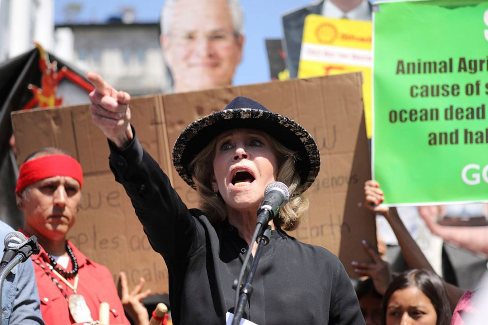 Jane Fonda Arrested for Protesting Climate Change in Washington