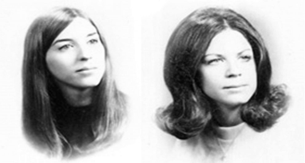 Janice Pietropola and Lynn Seethaler are pictured in images released by the Virginia Beach Police Department. The two 19-year-old women were slain in 1973 while on vacation in Virginia.
