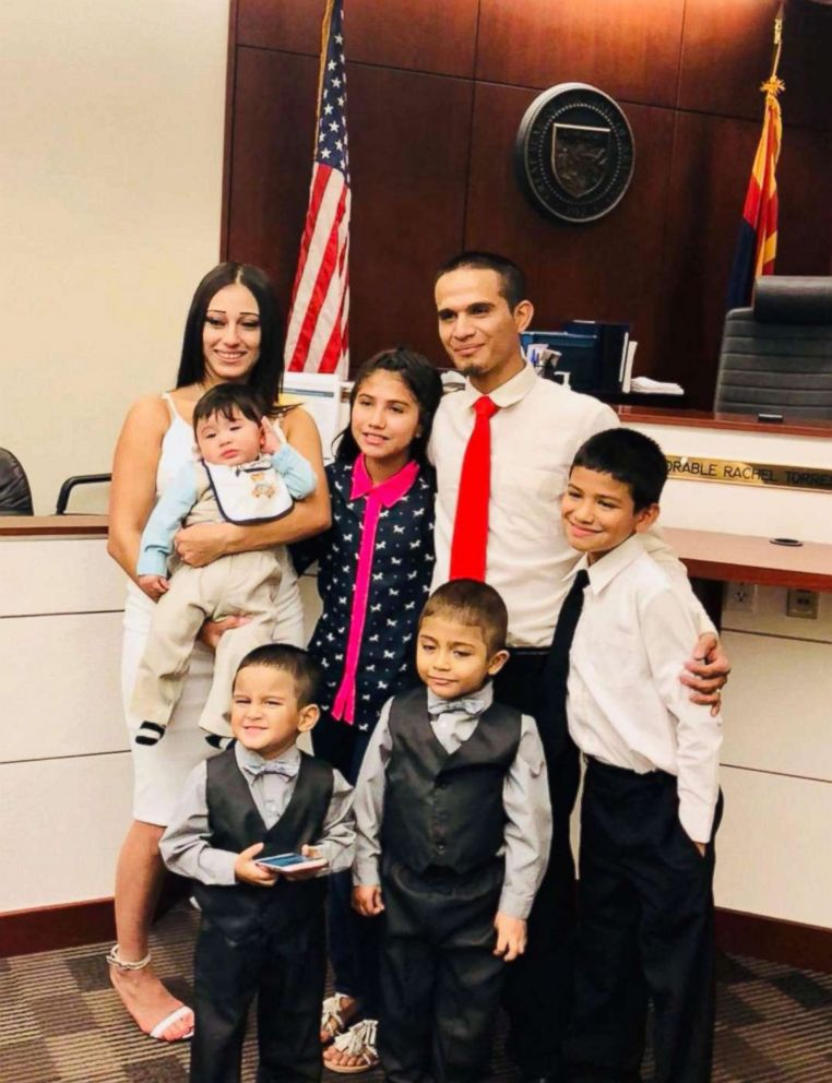 PHOTO: Jesus and Sonia Berrones with their five children, January, 2018.