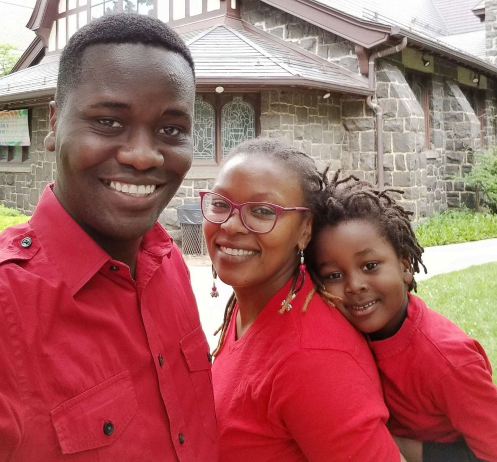 PHOTO: James and Josephine Okungu are pictured with their son, Jayden, after a church service in this undated family photo.