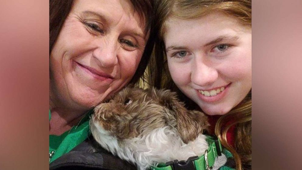 Jayme Closs, 13, is pictured in a photo shared on social media after reuniting with her aunt and godmother, Jennifer Smith, Jan. 11, 2019.