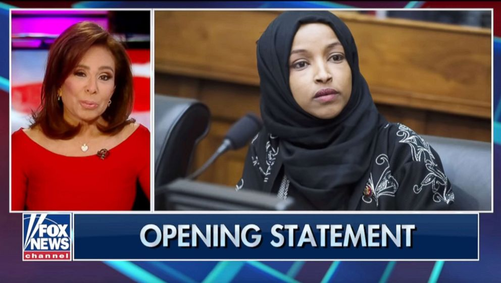 PHOTO: Jeanine Pirro appears on her FOX News show on March. 11, 2019, in this image grab from a video posted on YouTube.
