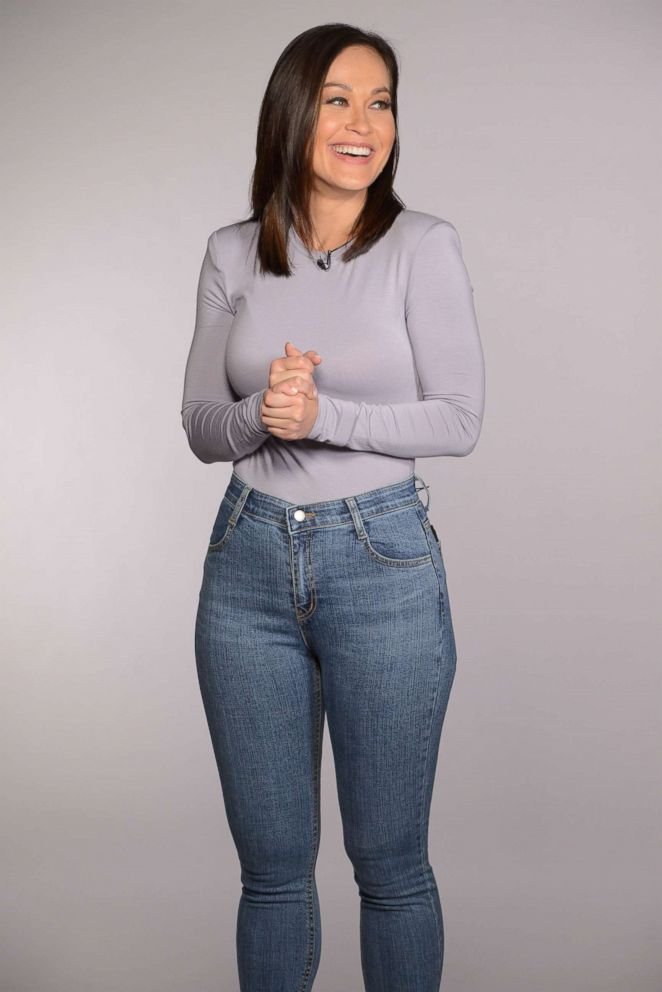 Eva Pilgrim wears a pair of 5KG jeans.