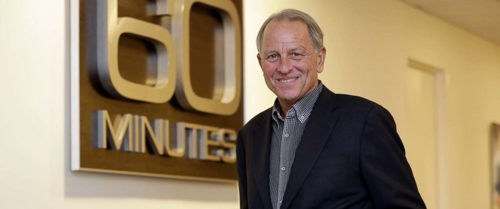 "PHOTO: Executive Producer Jeff Fager poses for a photo at the ""60 Minutes"" offices, in New York on Sept. 12, 2017. Fager, who was named in reports about tolerating an abusive workplace at CBS, stepped down Wednesday, Sept. 12, 2018."