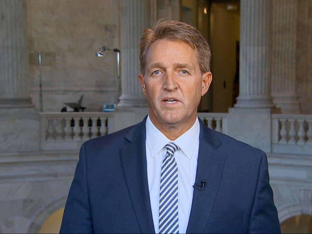 PHOTO: Sen. Jeff Flake appears on Good Morning America, July 17, 2018.
