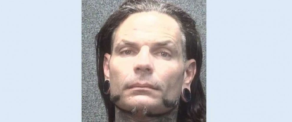 PHOTO: WWE star Jeff Hardy, 41, was arrested for public intoxication in Myrtle Beach, S.C., on Saturday, July 13, 2019.