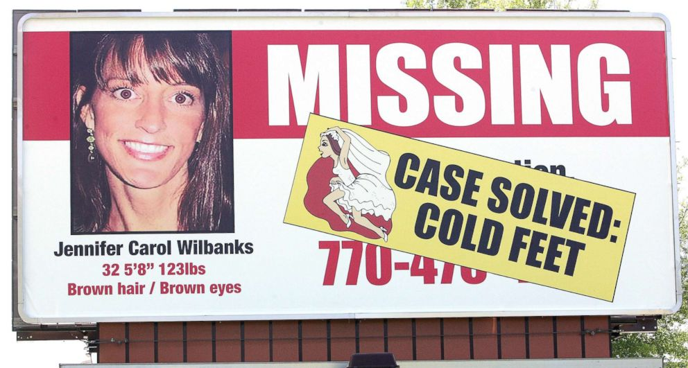 A billboard with the likeness of runaway bride Jennifer Wilbanks is shown in Duluth, Ga., May 3, 2005.
