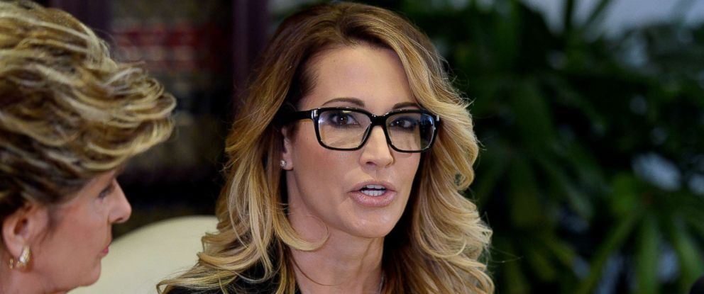 PHOTO: Jessica Drake speaks to reporters about allegations of sexual misconduct against Donald Trump in Los Angeles, Oct. 22, 2016.