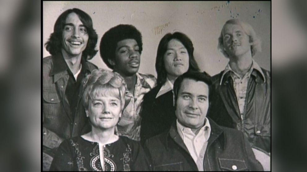 Peoples Temple Leader Jim Jones Front Row On The Right Is Pictured With His