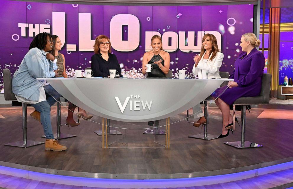PHOTO: Jennifer Lopez plays The J.LoDown game with The View co-hosts Whoopi Goldberg, Abby Huntsman, Joy Behar, Sunny Hostin, and Meghan McCain, Sept. 12, 2019.
