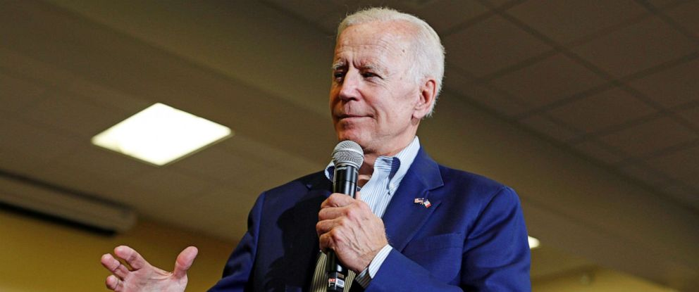 PHOTO: Democratic 2020 U.S. presidential candidate and former Vice President Joe Biden speaks at an event at Iowa Wesleyan University in Mount Pleasant, Iowa, June 11, 2019.