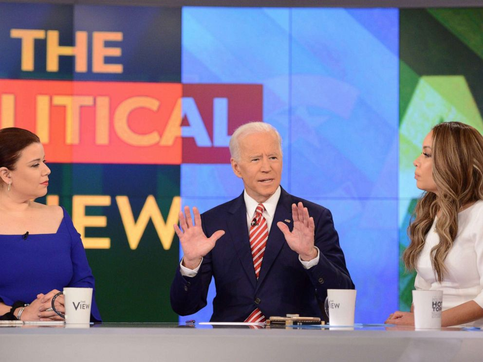 PHOTO: Former Vice President and Democratic presidential candidate Joe Biden appears on ABCs, The View, in New York, April 26, 2019.