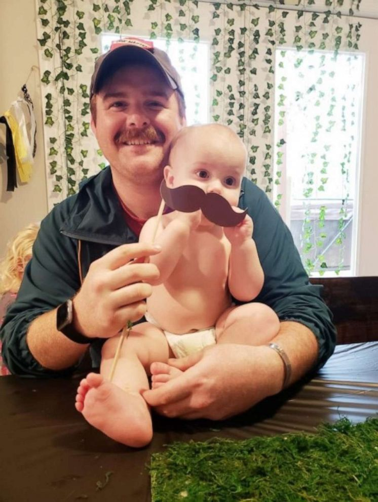 PHOTO: Nashville police officer John Anderson, 28, with his son Gavin, died in a car crash on Thursday, July 4, 2019.