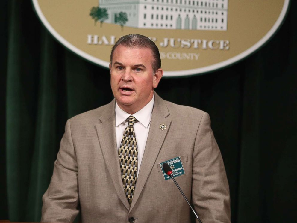 PHOTO: Captain Christopher Bergner of the Los Angeles County Sheriffs Department Homicide Bureau discusses the most recent details of the Natalie Wood death investigation at Hall of Justice, Feb. 5, 2018, in Los Angeles.
