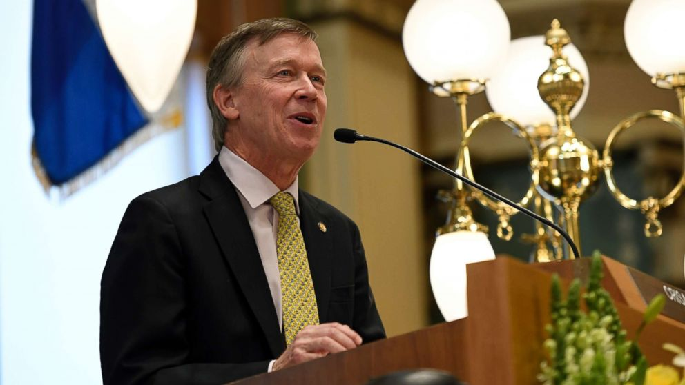 Governor John Hickenlooper delivers the Colorado State of the State address at the Colorado State Capitol, Jan. 11, 2018 in Denver, Colo.