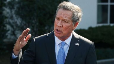 'PHOTO: Ohio Governor John Kasich speaks to reporters after a closed meeting with President Donald Trump, Feb. 24, 2017 in Washington, D.C.' from the web at 'https://s.abcnews.com/images/US/john-kasich-1-gty-jt-180224_16x9t_384.jpg'
