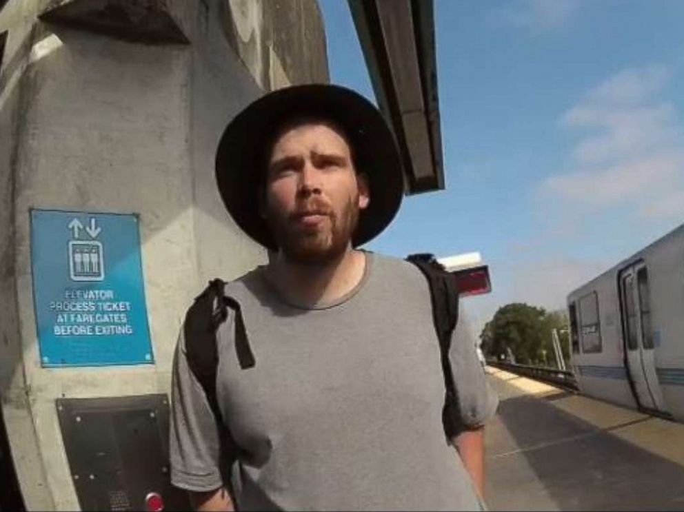 PHOTO: John Lee Cowell, 27, is pictured in this undated image released by BART police from an officers body camera.