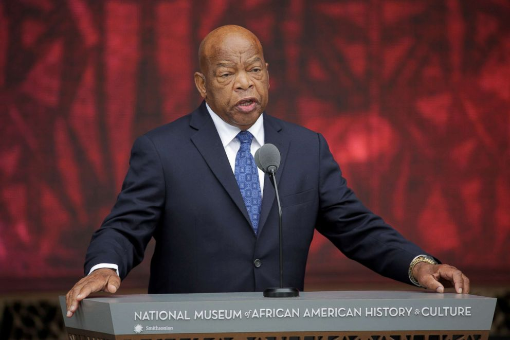PHOTO: Rep. John Lewis speaks at the dedication of the Smithsonians National Museum of African American History and Culture in Washington, D.C., Sept. 24, 2016.