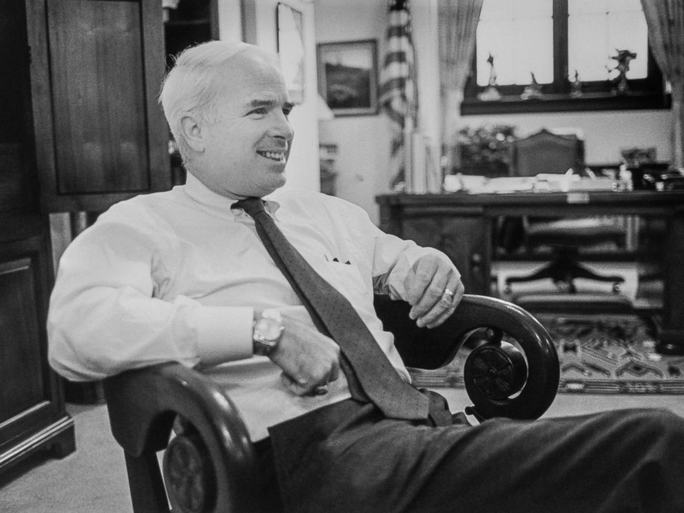 PHOTO: Rep. John McCain in his office on Capitol Hill, Feb. 15, 1990.