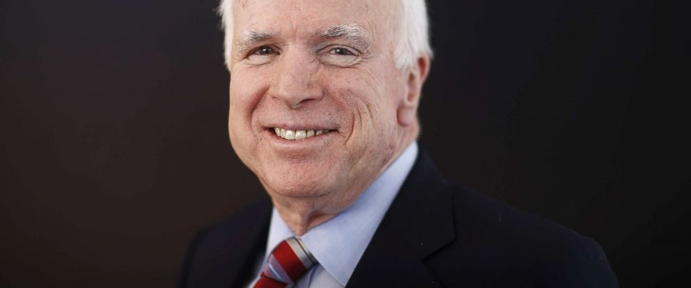 PHOTO: Senator John McCain poses for a photograph in Davos, Switzerland, Jan. 23, 2014.
