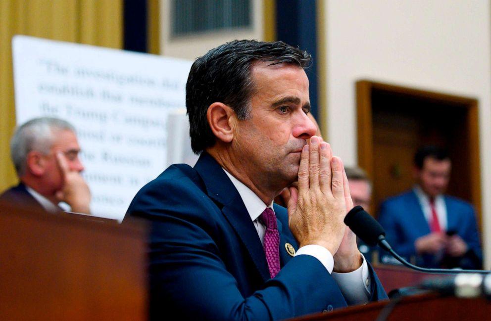 PHOTO: Rep. John Ratcliffe listens as former Special Counsel Robert Mueller testifies in Washington, July 24, 2019.