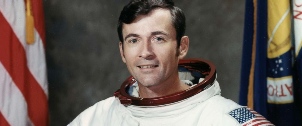 PHOTO: Astronaut John W. Young, Apollo 16 Mission Commander, poses for a portrait at the Madded Spacecraft Center in Houston in 1971.