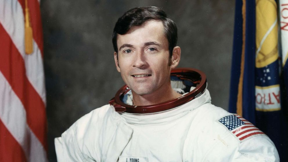 Astronaut John W. Young, Apollo 16 Mission Commander, poses for a portrait at the Madded Spacecraft Center in Houston in 1971.