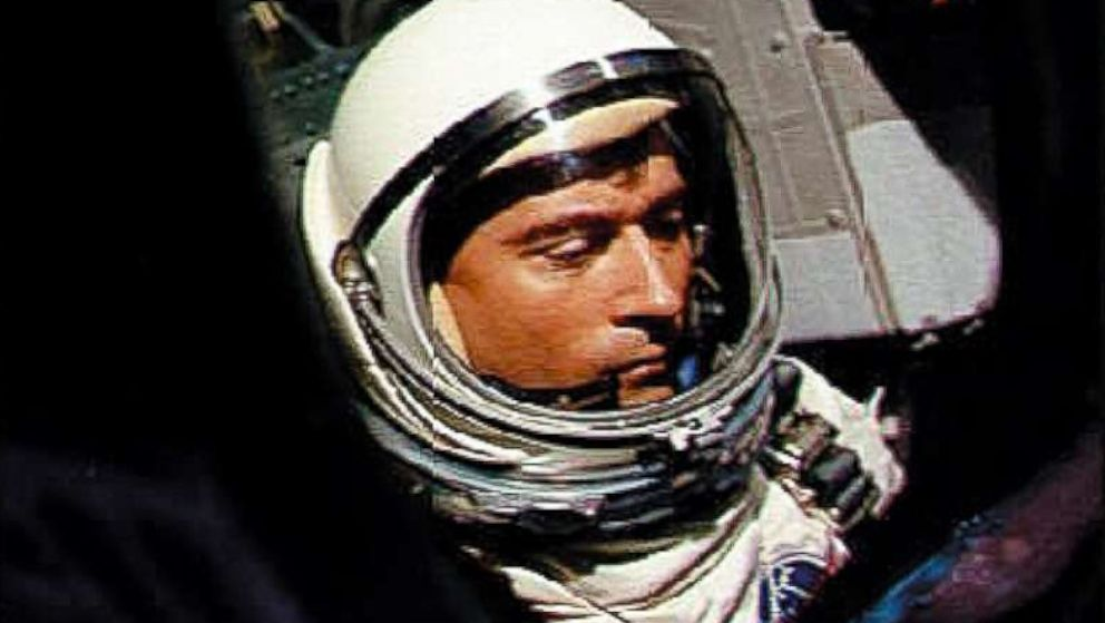 U.S. astronaut John Young is pictured aboard Gemini III waiting for the launching of the first orbital maneuver by manned spacecraft on March 23, 1965.