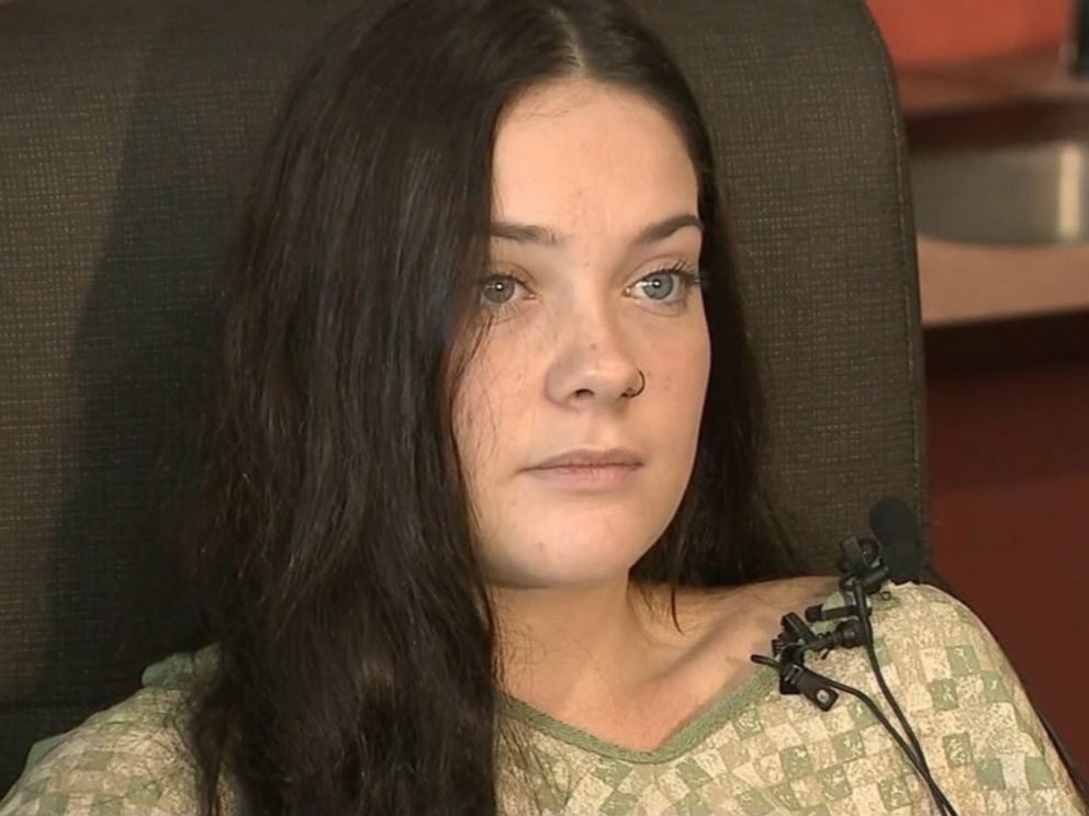 PHOTO: Jordan Holgerson, 16, who was pushed off the bridge in Vancouver, Wash., suffered five broken ribs and lung injury. She talks to ABC Newss affiliate KATU on Aug. 9. 2018.