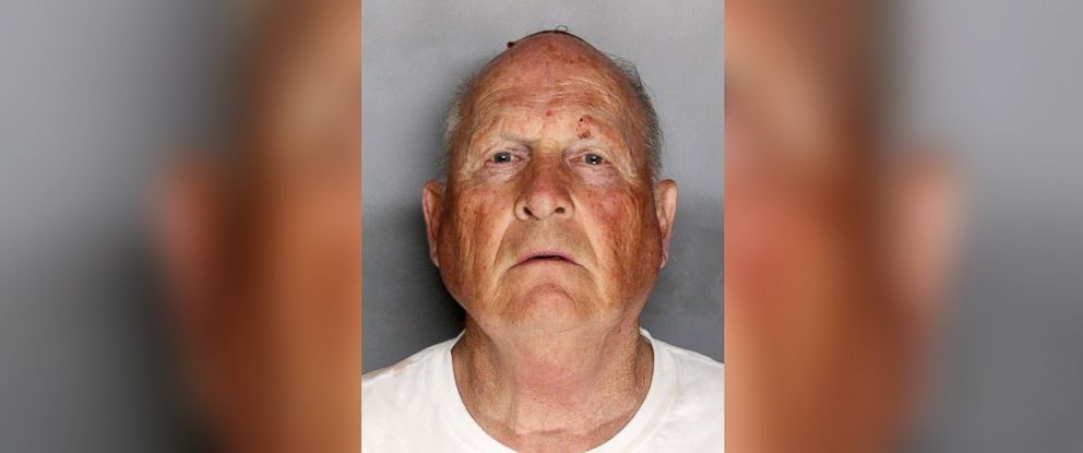 "PHOTO: Joseph James Deangelo, known as ""The Golden State Killer,"" is seen in this police booking photo, April 25, 2018, after being apprehended."
