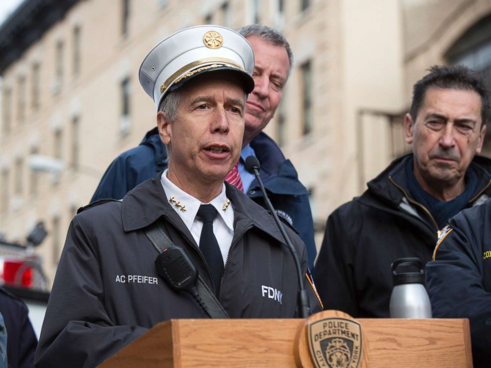 PHOTO: New York City Fire Department Chief of Counterterrorism and Emergency Preparedness Joseph Pfeifer speaks at a press conference, Nov. 22, 2015, in New York City.