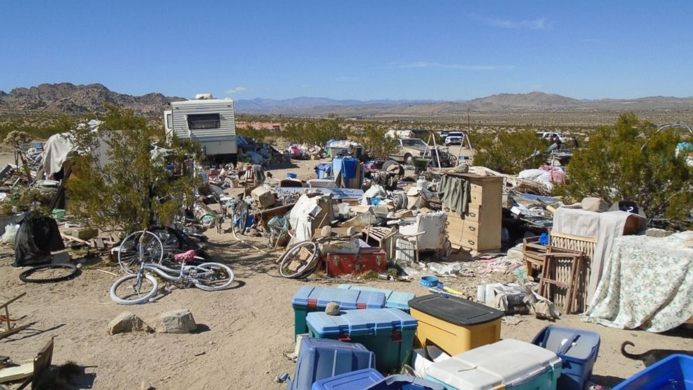 Authorities in Joshua Tree, Calif., arrested the parents of three children who lived in a box amid squalor for four years on Feb. 28, 2018.