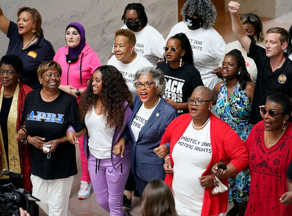 Black Caucus Chair Rep. Joyce Beatty Arrested Along With Nine Others During Voting Rights Protest