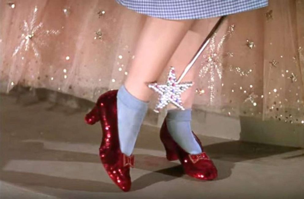 43796893c99 Officials show off stolen ruby slippers from  Wizard of Oz  found ...