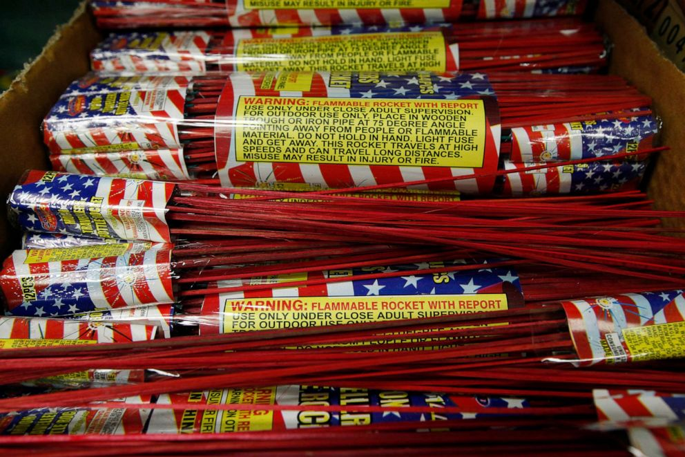 PHOTO: In this file photo, bottle rockets are shown at Southgate Fireworks in Southgate, Mich., May 24, 2012.