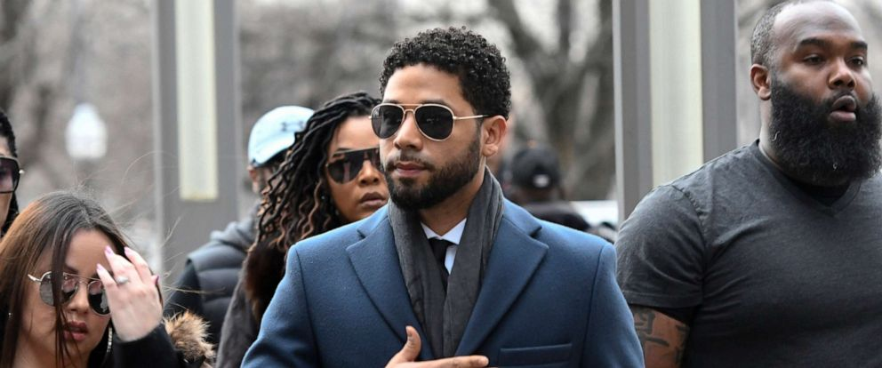 "PHOTO: ""Empire"" actor Jussie Smollett arrives at the Leighton Criminal Court Building for his hearing in Chicago, March 14, 2019."