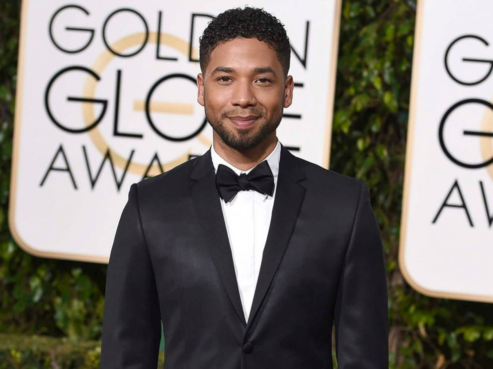 PHOTO: In this Jan. 10, 2016 file photo, actor and singer Jussie Smollett arrives at the 73rd annual Golden Globe Awards in Beverly Hills, Calif.