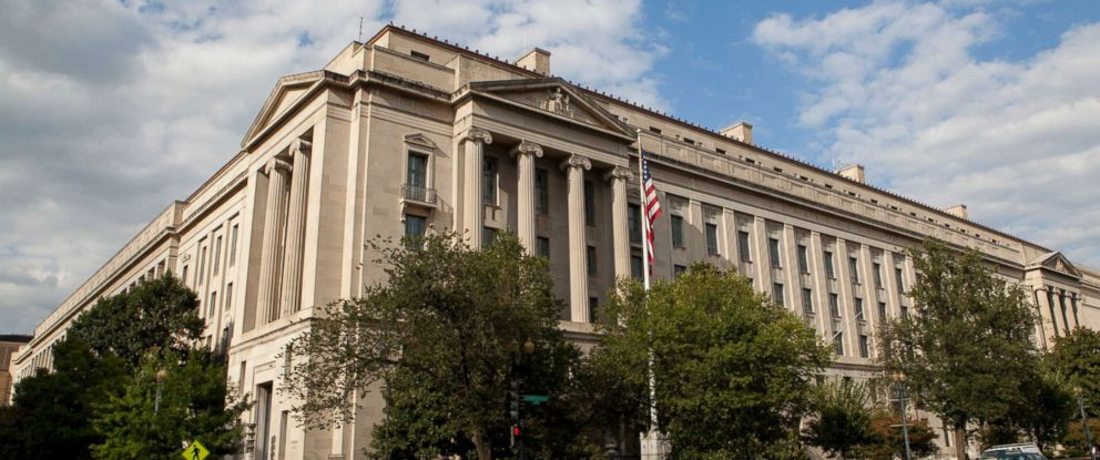 PHOTO: Exterior of the Robert F. Kennedy Department of Justice Building in Washington, D.C.
