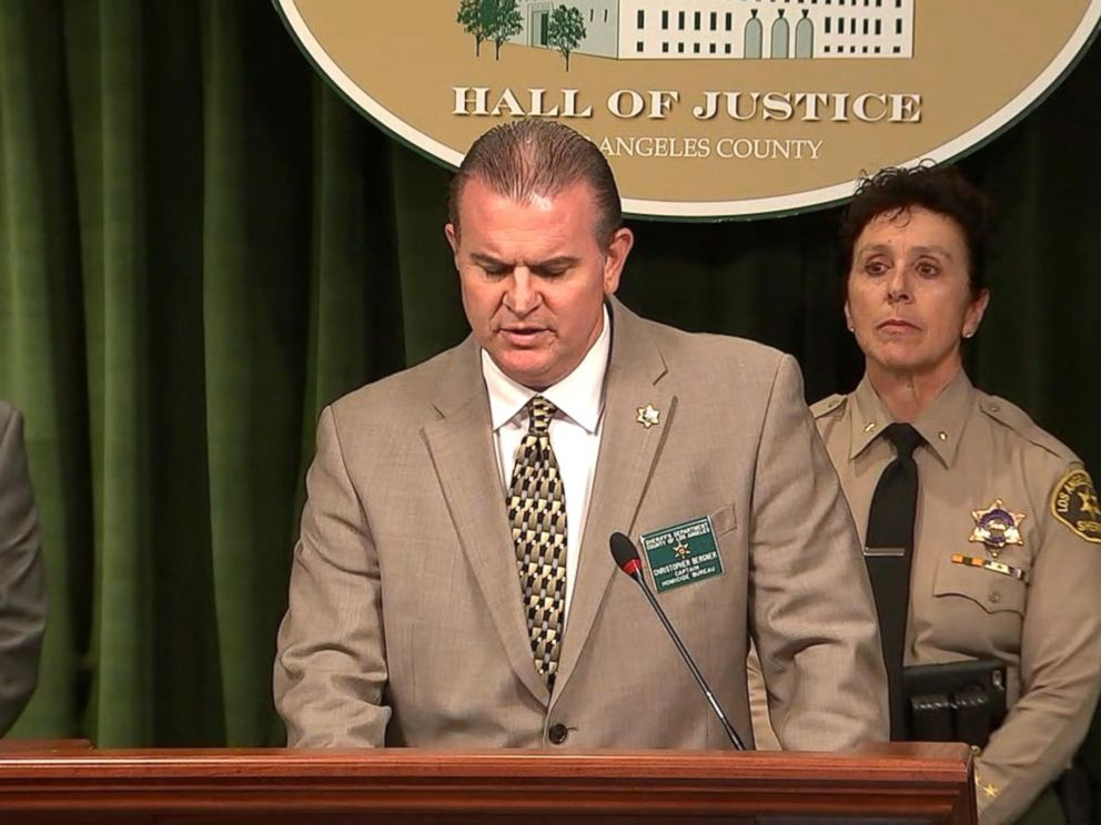 PHOTO: Capt. Christopher Bergner provided an update on Feb. 5, 2018, of a deputy-involved shooting of 16-year-old Anthony Weber near the Westmont neighborhood of Los Angeles on Sunday.