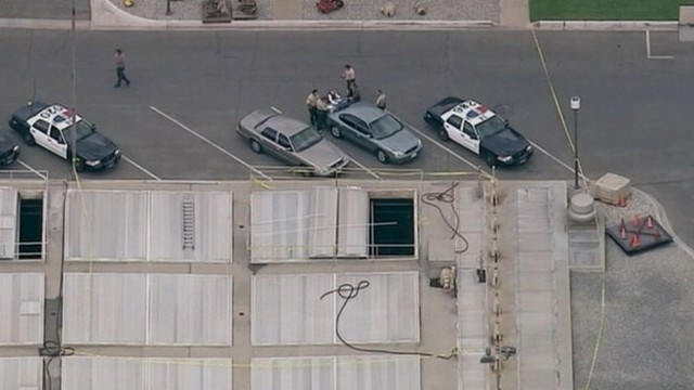 VIDEO: Los Angeles police investigate female torso found floating in a tank at a treatment plant.