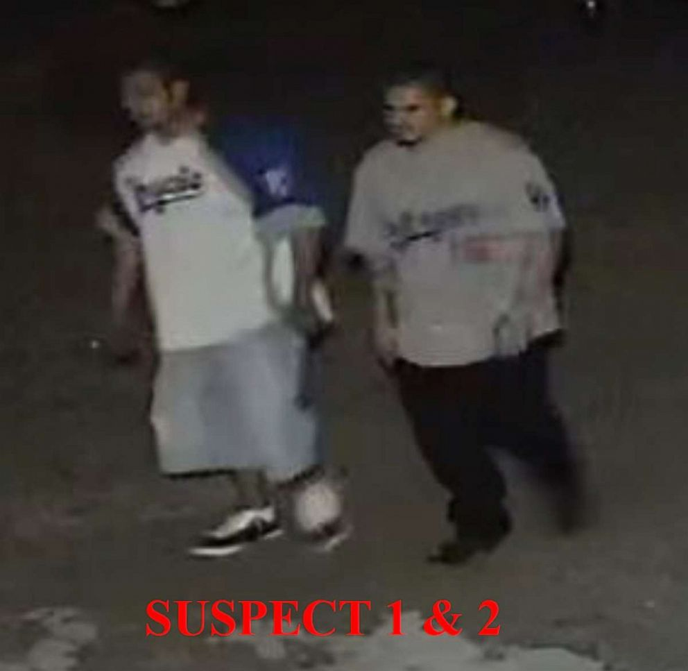 PHOTO: Police are searching for two suspects involved in a shooting at a Kansas City bar, Oct. 5, 2019.