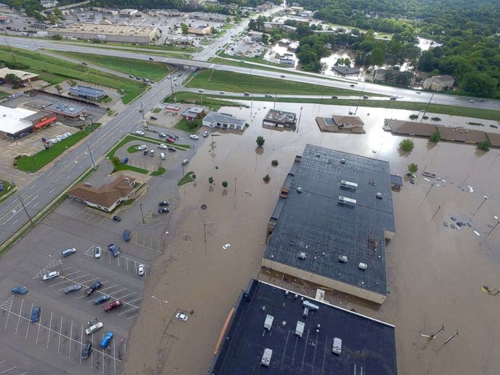PHOTO: Heavy rain caused significant flooding in Riley County, Kansas.