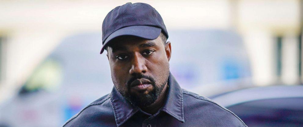 PHOTO: Kanye West is seen during Paris Fashion Week, June 24, 2018, in Paris.