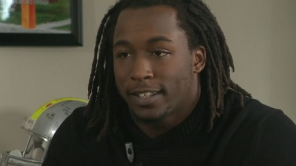 Kareem Hunt during an interview with ESPN.
