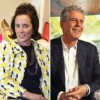 Kate Spade is pictured in 2004 and Anthony Bourdain is pictured in 2012.